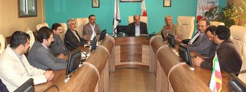 دیدار اعضای کمیسیون ترافیک سازمان با مهندس عسکری