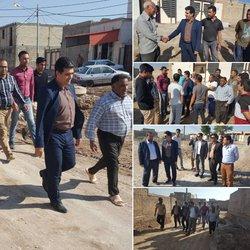بازدید شهردار خرمشهر از کوی نود هکتاری با هدف بررسی و حل مشکلات مردم در این محله