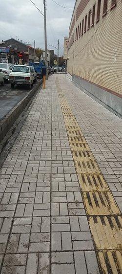 خیابان شهید مجدی میانه نو نوار شد.