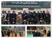 تجمع عظیم و حماسی بسیجیان شهرستان شاهین شهر و میمه در ورزشگاه تختی شاهین شهر