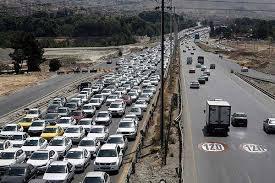 ترافیک جاده های ورودی مشهد پرحجم است