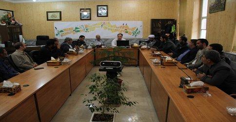 جلسه مدیر منطقه دو با فرمانده ناحیه امام رضا (ع) و فرماندهان حوزه های مقاومت بسیج