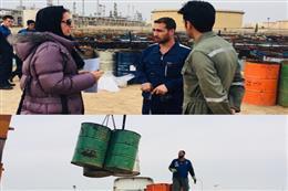 انتقال ۱۵۰تن پسماند حاوی مواد نفتی پالایشگاه نفت تهران به سایت پارس آرمان سمنان