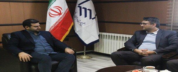 دیدار مدیر شعب استان بانک قرض الحسنه مهر ایران با هیات رئیسه سازمان