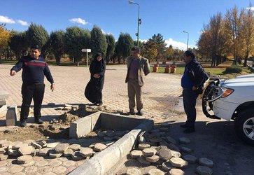 بازدید از پروژه های در دست اقدام شهرداری مجلسی در جهت زیباسازی سیمای شهری