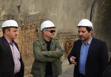 بازدید  رئیس دیوان محاسبات مهندس علمداری و حسایرسان این سازمان از پروژه قطار شهری کرمانشاه
