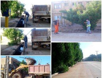 نظافت و پاکسازی عمومی کوی سوم خرداد توسط شهرداری خرمشهر