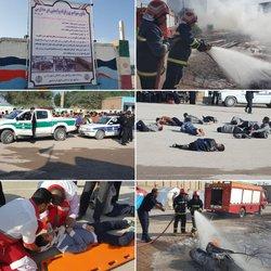 برگزاری مانور زلزله و ایمنی در مدارس با مشارکت شهرداری خرمشهر
