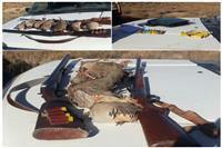 کشف هفت قطعه کبک و دو قبضه سلاح ساچمه زنی از متخلفین کوه جوپار توسط یگان حفاظت محیط زیست شهرستان کرمان