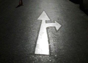 نصب شابلون های جهت نما در خیابان پیغمبریه