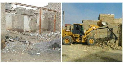 پاکسازی و تخریب ساختمان مخروبه