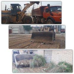 عملیات گسترده نخاله برداری و پاکسازی زمین های خالی سطح شهر