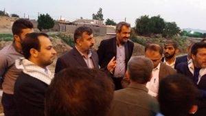 بازدید مدیر کل مدیریت بحران خوزستان از بافت فرسود و مسیل های آغاجاری