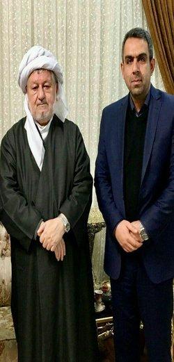 دیدار سرپرست شهرداری کرمانشاه با ماموستا قادری