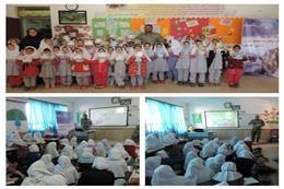 برگزاری کلاس آموزشی یک ساعت با محیط بان در مدرسه شهید مدنی شهرستان آق قلا