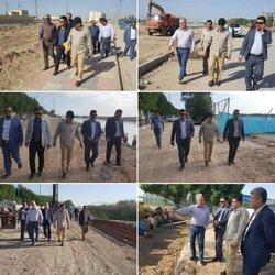 بازدید ۶ ساعته شهردار خرمشهر از پروژه های عمرانی شهرداری خرمشهر