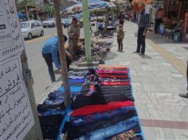 اطلاعات ۶۰۰ دستفروش سنندجی در محدوده خیابان فردوسی ثبت شده است