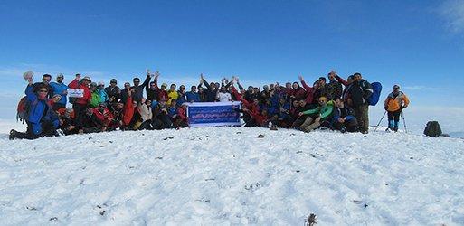 صعود مهندسین کوهنورد عضو سازمان به قله گردکوه