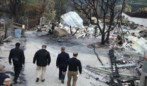 بازسازی مناطق آتش سوزی کالیفرنیا بیش از۱۰سا ...