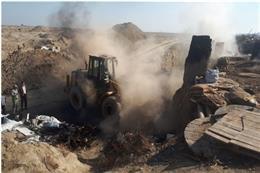تخریب ۳۲ کوره زغال سوزی غیر مجاز در اراضی کشاورزی فشافویه  شهرستان ری