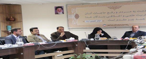 جلسه کمیسیون شهرسازی،معماری و عمران شورای اسلامی شهر اصفهان با حضور هیات رئیسه سازمان